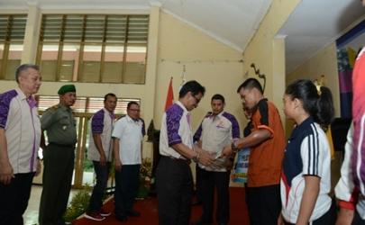 Pelantikan Pengurus KONI Kota Kediri yang baru di Gedung Nasional Indonesia (GNI)