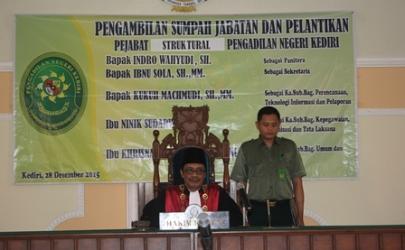 Pelantikan Pejabat Struktural Pengadilan Negeri Kediri